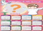 Calendário 2021 Batizado de Meninas