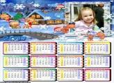 Calendário 2017 Infantil Natal Baby