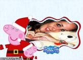Mamãe Noela Peppa Pig Foto Moldura
