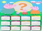 Calendário 2019 Família Peppa Pig