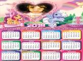 Calendário 2018 Ponéis Cor de Rosa