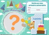 Convite de Aniversário de 1 Ano
