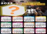 Calendário 2022 PlayerUnknowns Battlegrounds com Foto