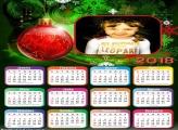 Calendário 2018 Bola de Árvore de Natal