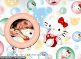 Hello Kitty Bolhas de Sabão