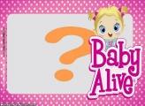 Moldura Boneca Baby Alive