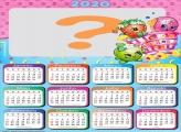 Calendário 2020 Shopkins Foto Montagem