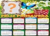 Montagem Calendário 2021 Feliz Primavera