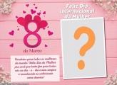 Moldura Parabéns Dia da Mulher