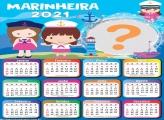 Calendário 2021 Marinheira Molduras para Fotos Infantil