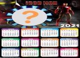 Montar Fotos Grátis Calendário 2021 Iron Man
