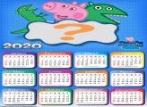 Moldura Infantil Calendário 2020 George Peppa Pig