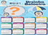 Calendário 2021 Ursinho Baloeiro Máscara Digital