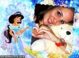Moldura Jasmine e Luzes Azuis