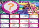Montagem de Fotos Calendário 2020 Barbie