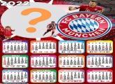 Calendário 2022 FC Bayern Munchen Online