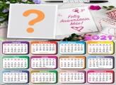 Calendário 2021 Feliz Aniversário Mamãe