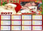 Calendário 2017 Papai Noel Infantil