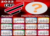Calendário 2022 Athletico Paranaense Foto Moldura