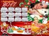 Calendário 2017 Natal Infantil Papai Noel