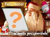 Papai Noel Lendo Carta Fazer Montagem de Fotos