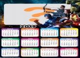 Calendário 2019 Vingadores Filme