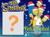 Montagem Digital de Feliz Natal Os Simpsons