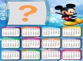 Calendário 2020 Mickey Montagem Digital