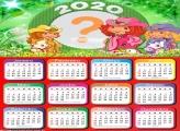 Moldura Fotos com Calendário 2020 Moranguinho