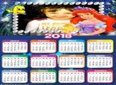 Calendário 2018 Nemo e Princesa Ariel
