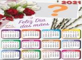 Calendário 2021 Cartão Dia das Mães Molduras para Fotos