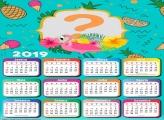 Calendário 2019 Flamingo Verde