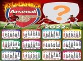 Calendário 2022 Arsenal Foto Moldura Grátis