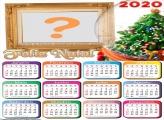 Calendário 2020 Moldura Digital de Natal