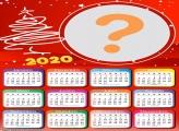 Calendário 2020 Efeito Árvore de Natal Foto Montagem