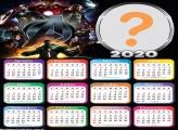 Colagem de Foto Calendário 2020 Vingadores Avengers