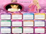 Calendário 2018 Barbie Boneca