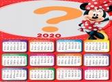 Calendário 2020 Minnie Vermelha