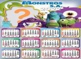 Calendário 2022 Monstros S A Fazer Online