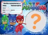 Convite Pj Mask para Editar Aniversário