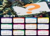 Calendário 2021 Tartarugas Ninjas FotoMontagem