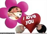 Moldura Ovelhinhas I Love You