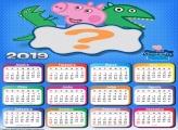 Calendário 2019 George e Dinossauro