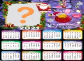 Calendário 2021 Mensagem de Deus de Feliz Natal