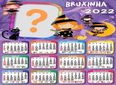 Calendário 2022 Bruxinha Colagem de Foto Grátis