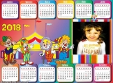 Calendário 2018 Circo Infantil Horizontal