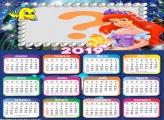 Calendário 2019 Ariel Princesa Disney