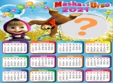 Calendário 2021 de Aniversário Masha e o Urso