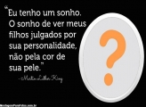 Frase Martin Luther King Moldura