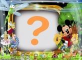 Moldura Mickey Animais da Floresta